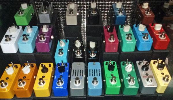 Mooer pedals at EVM
