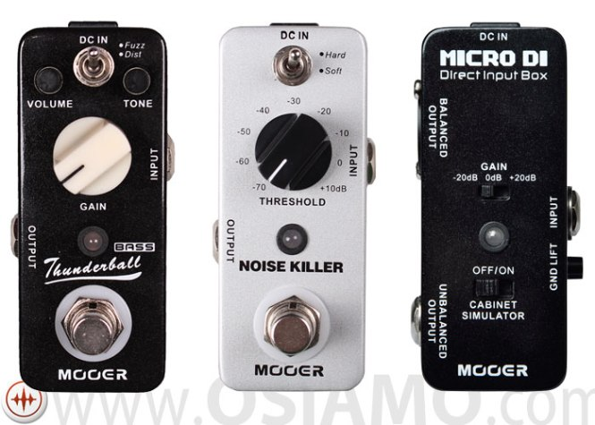 New Mooer Pedals Thunderball, Micro DI, Noise Killer