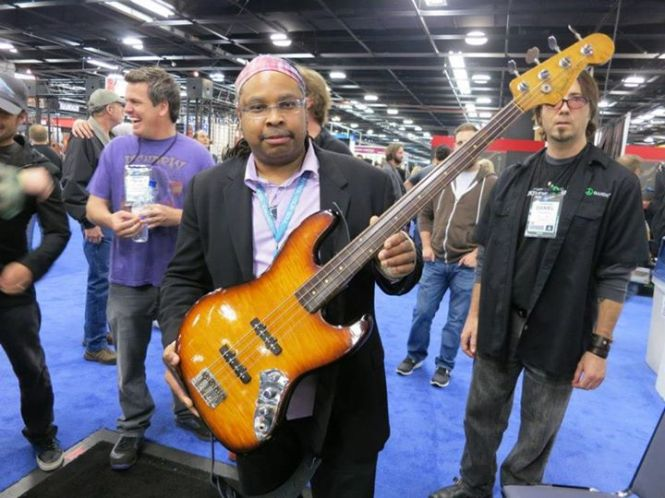 Rawn Randall with Jaco's Bass, the Bass of Doom