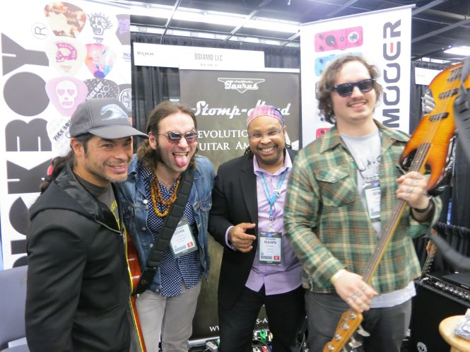 Robert Trujillo, John Bendy, Rawn Randall, Mike Bendy at Winter NAMM!